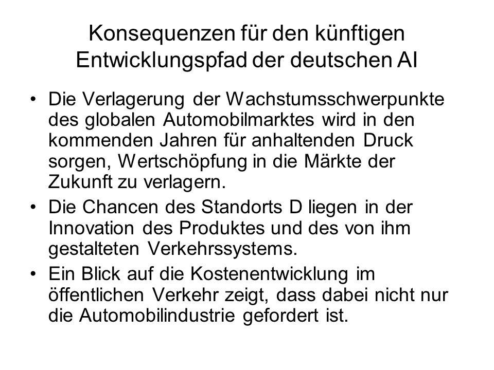 Konsequenzen für den künftigen Entwicklungspfad der deutschen AI
