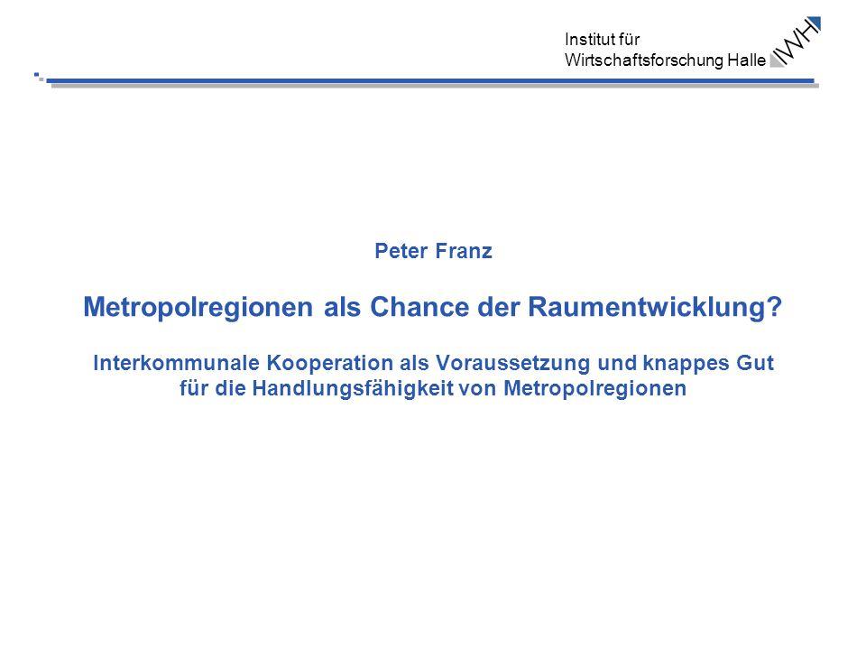 Peter Franz Metropolregionen als Chance der Raumentwicklung