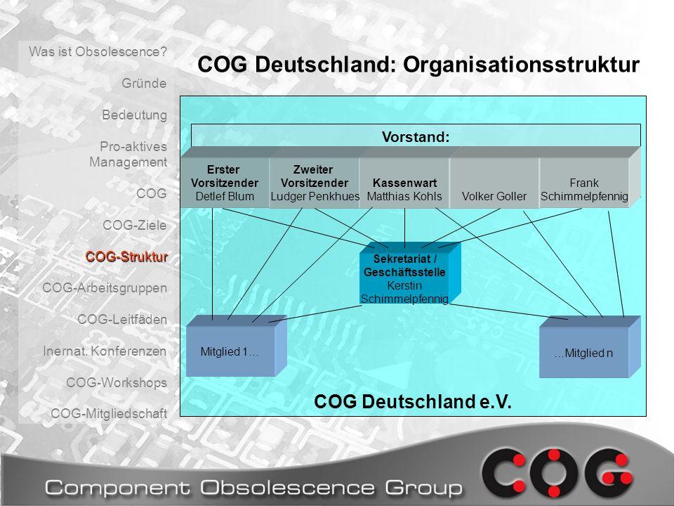 COG Deutschland: Organisationsstruktur