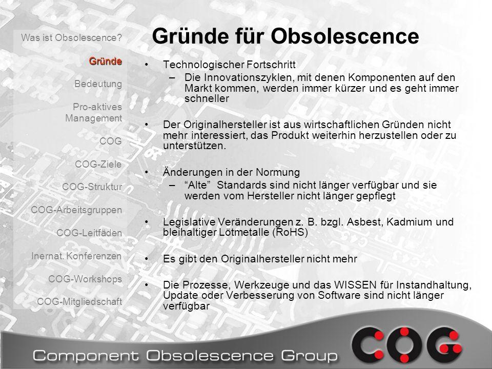 Gründe für Obsolescence