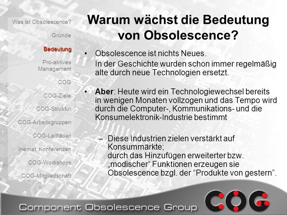Warum wächst die Bedeutung von Obsolescence