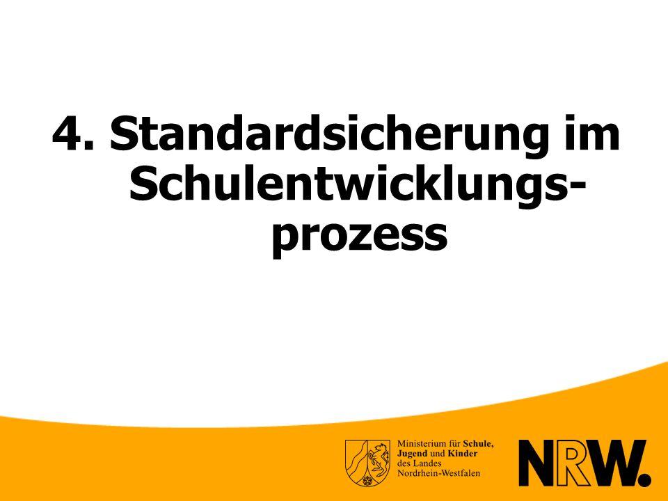 4. Standardsicherung im Schulentwicklungs-prozess