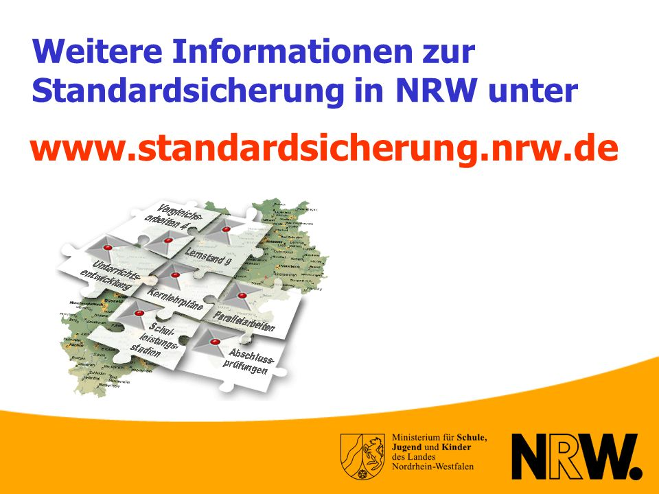 Weitere Informationen zur Standardsicherung in NRW unter
