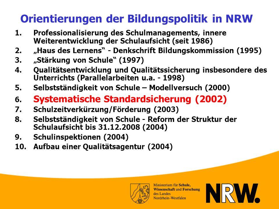 Orientierungen der Bildungspolitik in NRW
