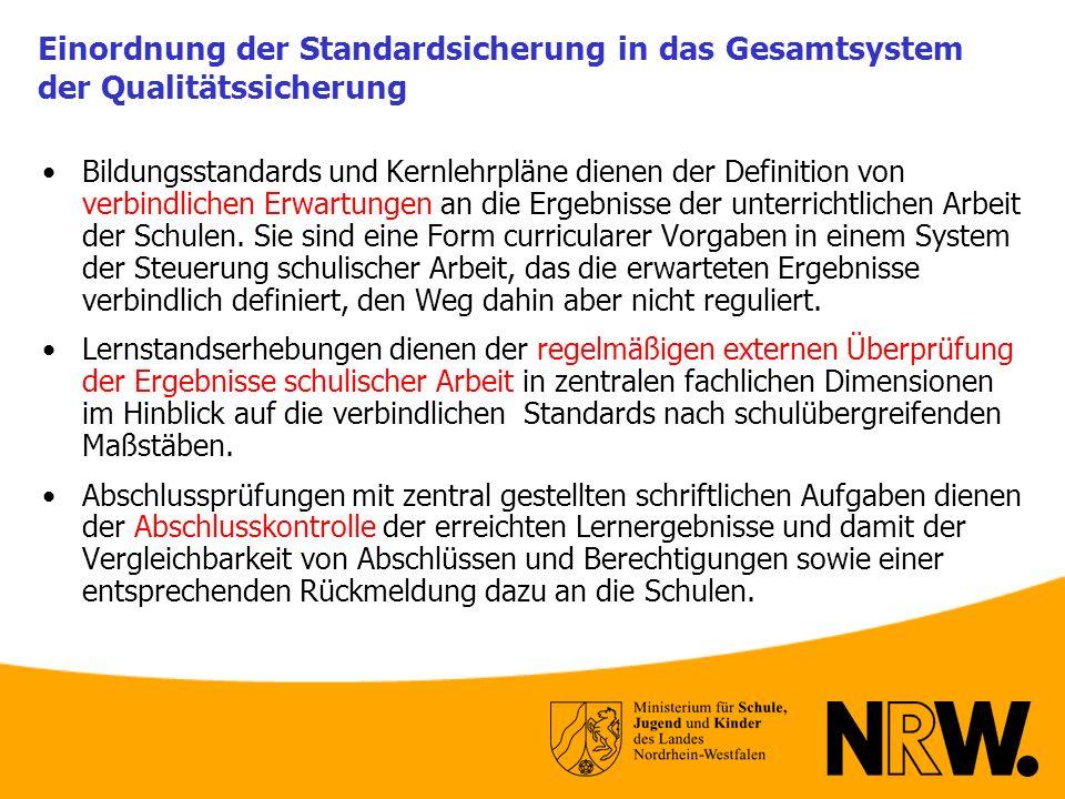 Einordnung der Standardsicherung in das Gesamtsystem der Qualitätssicherung