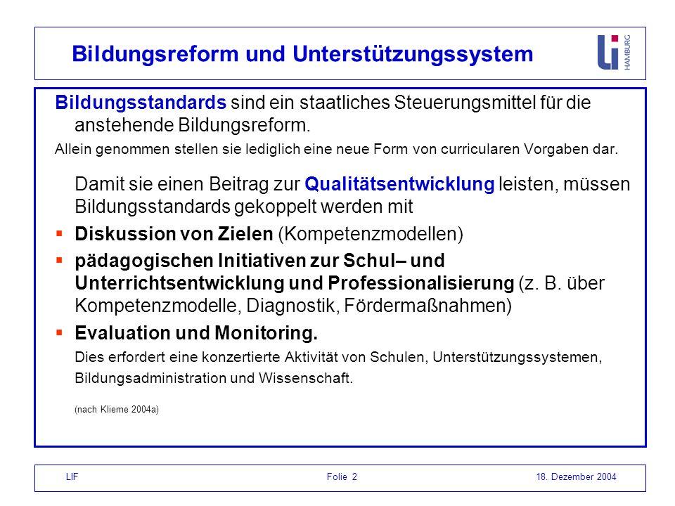 Bildungsreform und Unterstützungssystem