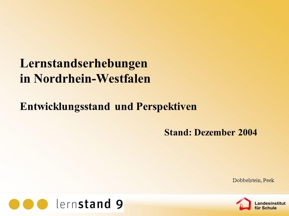 Lernstandserhebungen in Nordrhein-Westfalen