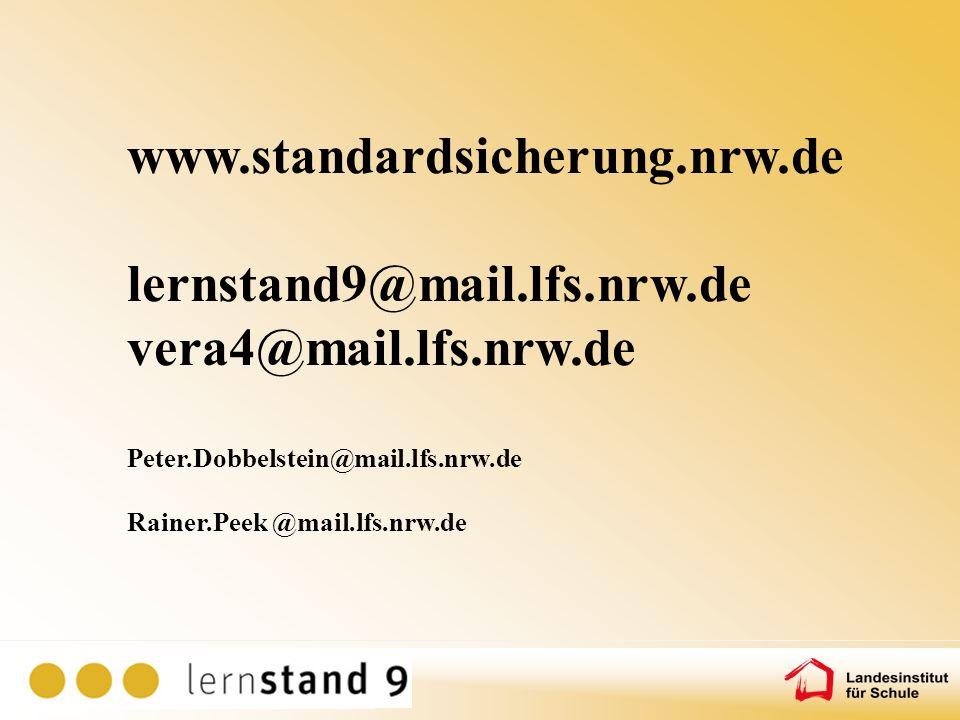 www.standardsicherung.nrw.de lernstand9@mail.lfs.nrw.de