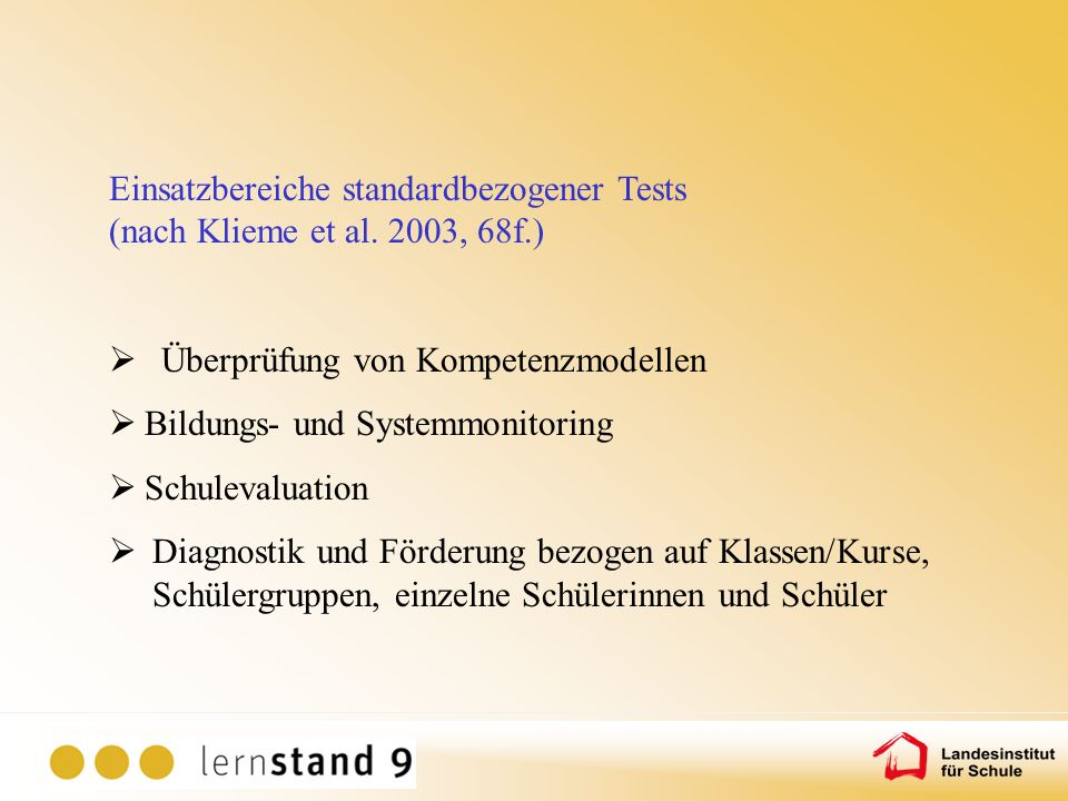 Überprüfung von Kompetenzmodellen Bildungs- und Systemmonitoring