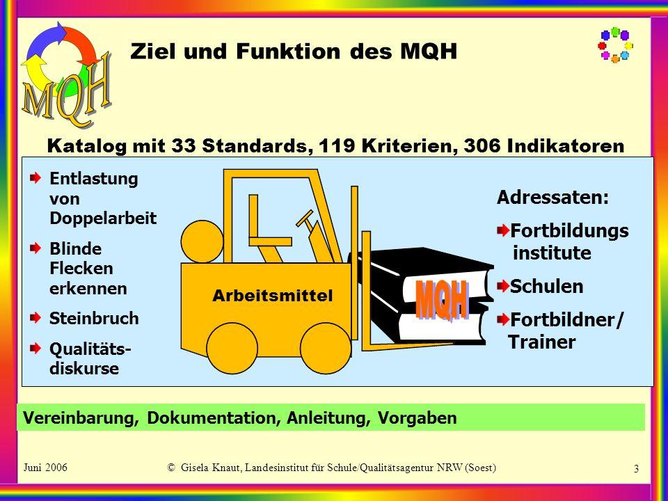 Ziel und Funktion des MQH
