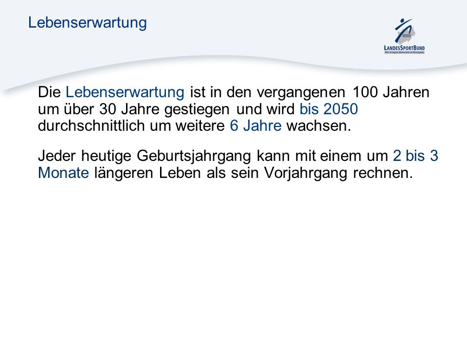 Lebenserwartung