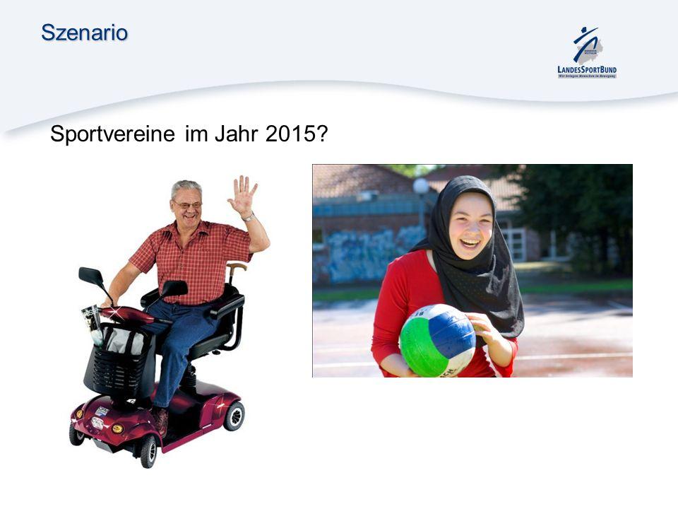 Szenario Sportvereine im Jahr 2015