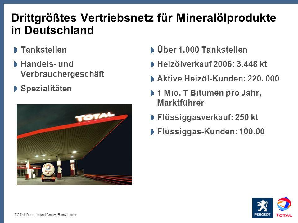 Drittgrößtes Vertriebsnetz für Mineralölprodukte in Deutschland