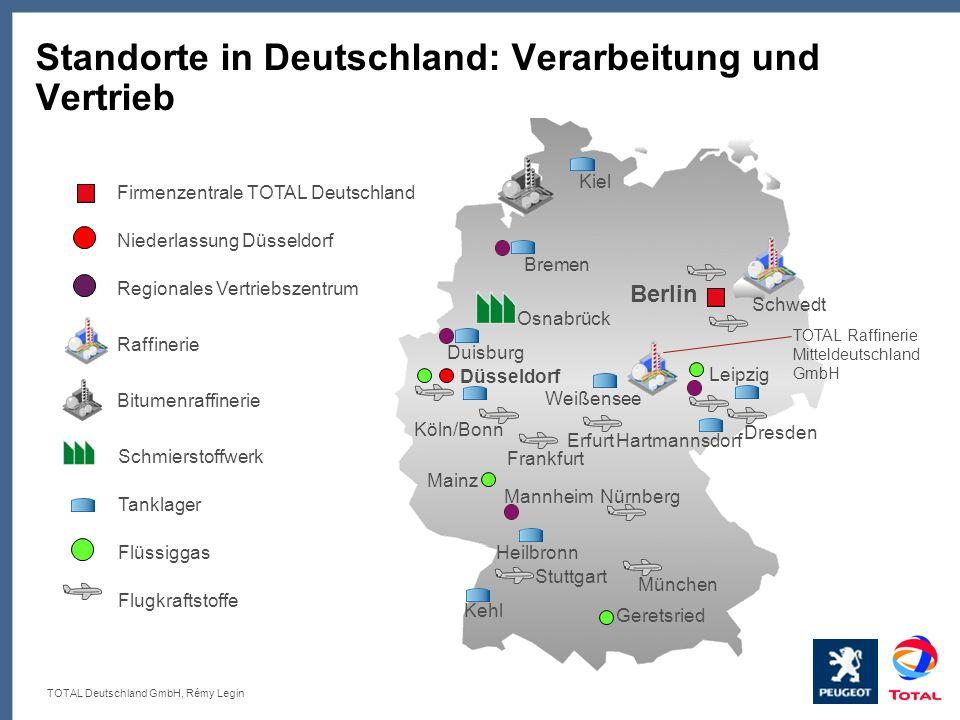 Standorte in Deutschland: Verarbeitung und Vertrieb