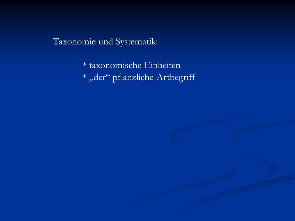 Taxonomie und Systematik:
