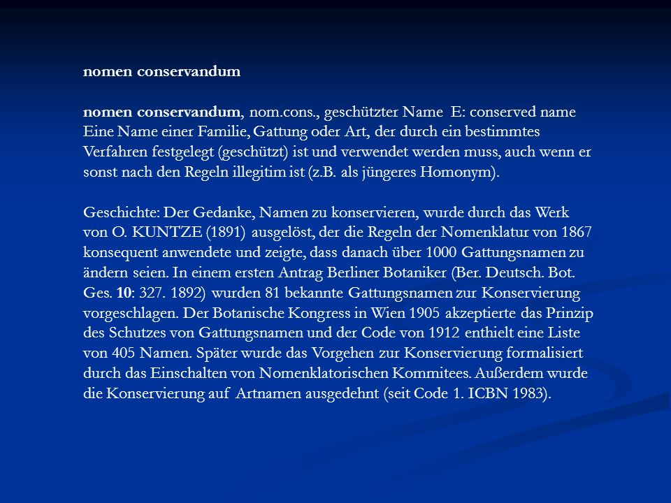 nomen conservandum