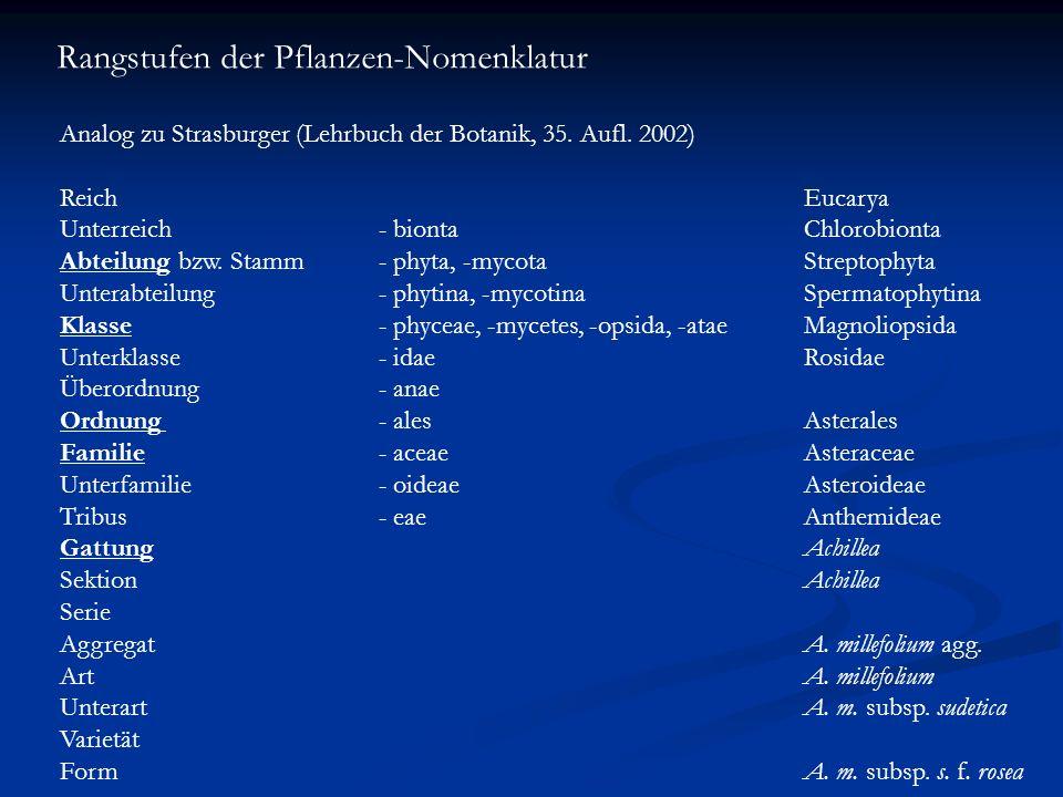 Rangstufen der Pflanzen-Nomenklatur