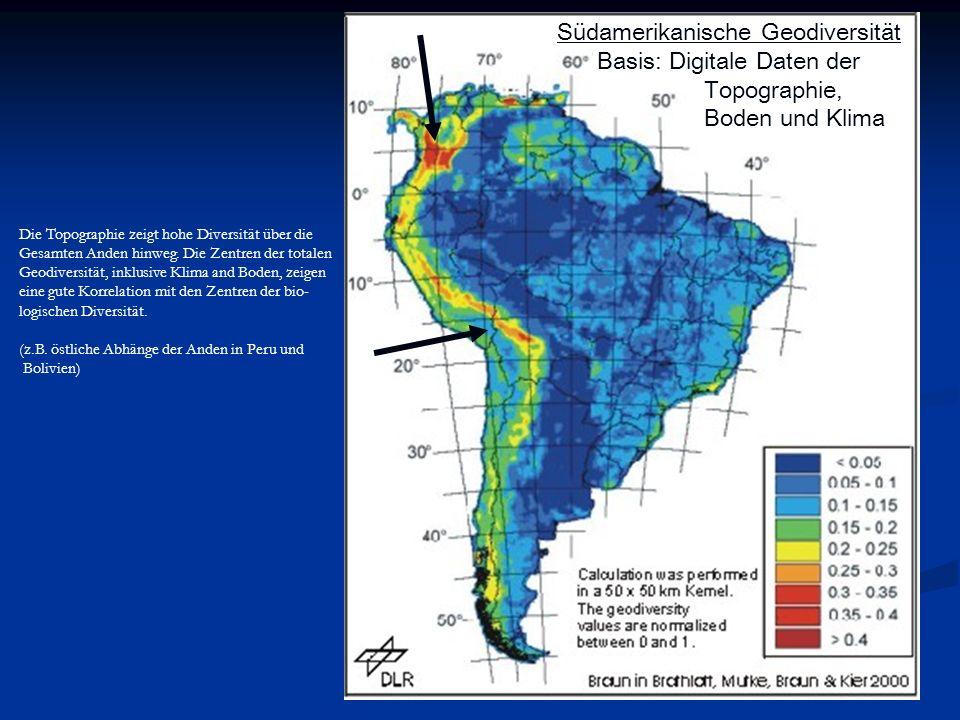 Südamerikanische Geodiversität Basis: Digitale Daten der Topographie,
