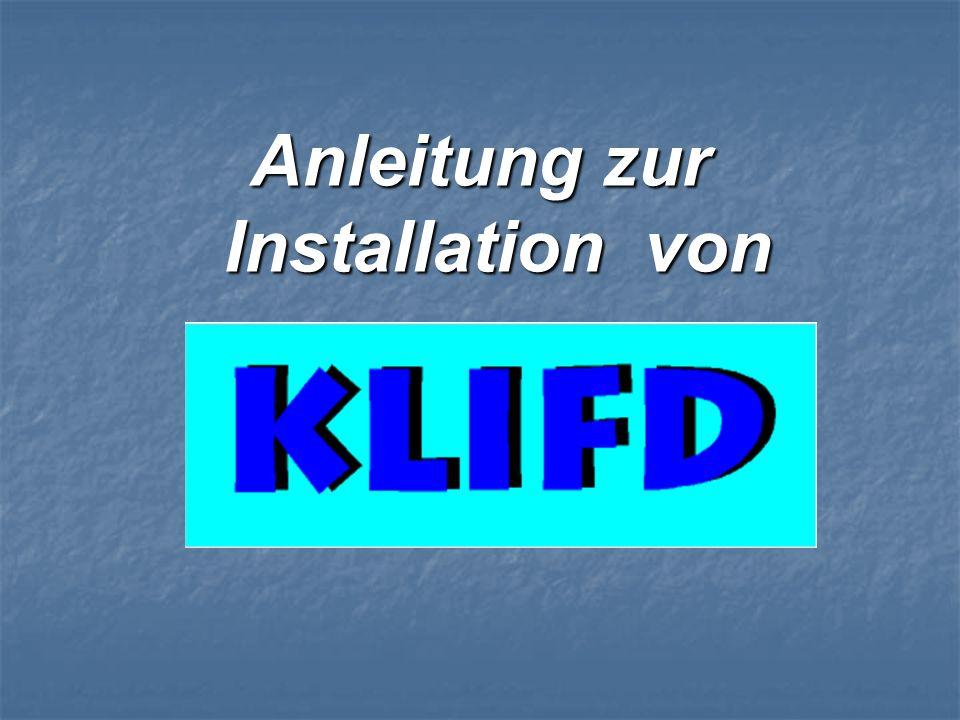 Anleitung zur Installation von