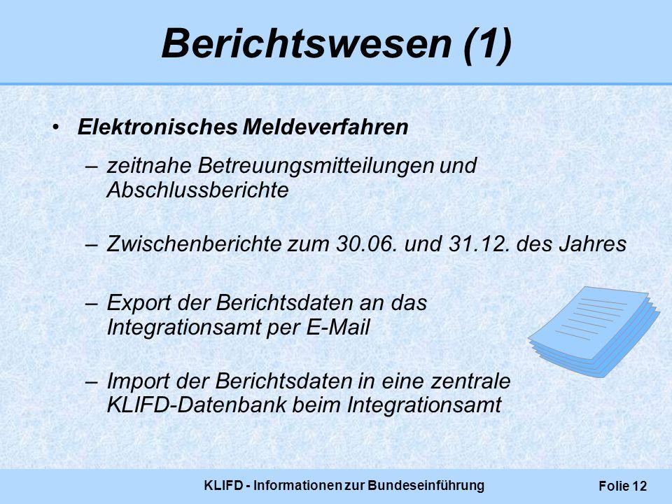 KLIFD - Informationen zur Bundeseinführung