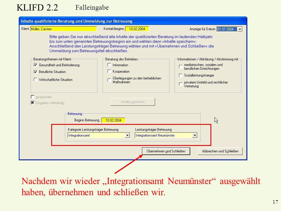 """Nachdem wir wieder """"Integrationsamt Neumünster ausgewählt"""