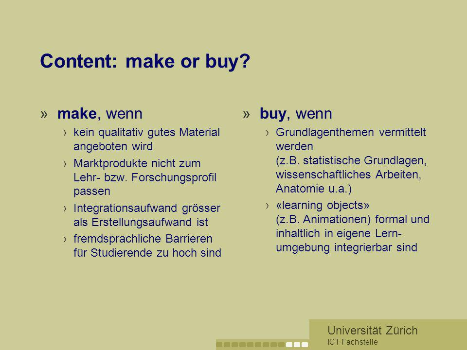Content: make or buy make, wenn buy, wenn