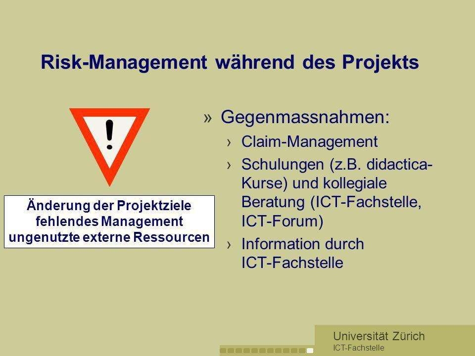 Risk-Management während des Projekts