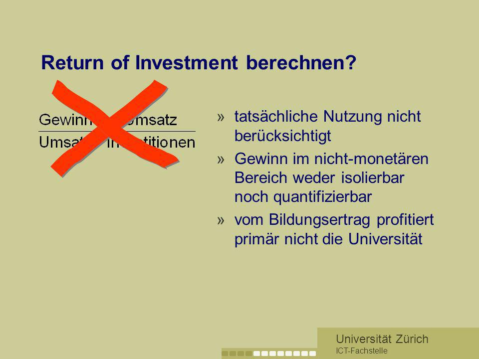 Return of Investment berechnen