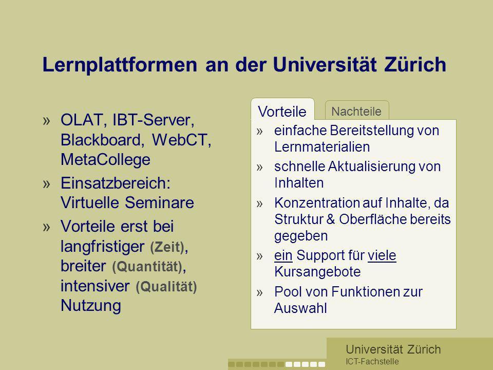 Lernplattformen an der Universität Zürich