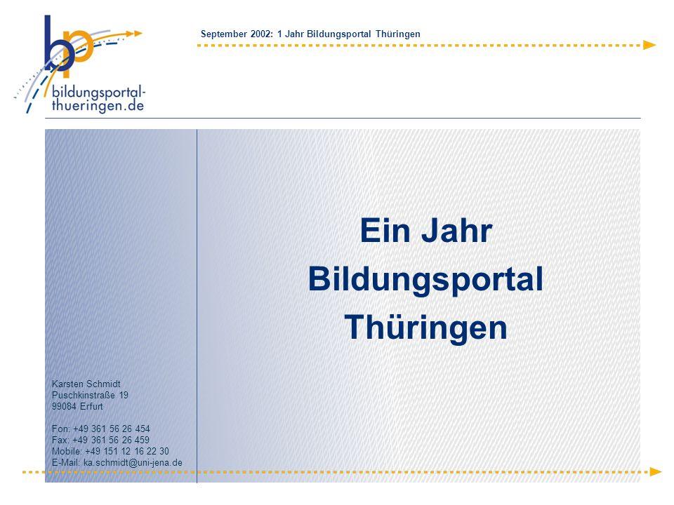 Ein Jahr Bildungsportal Thüringen