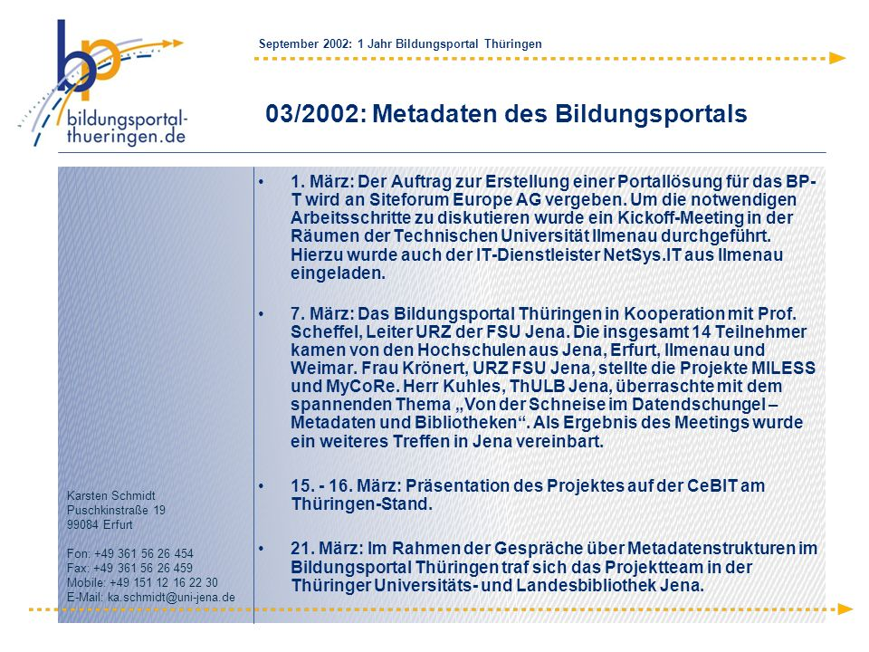 03/2002: Metadaten des Bildungsportals