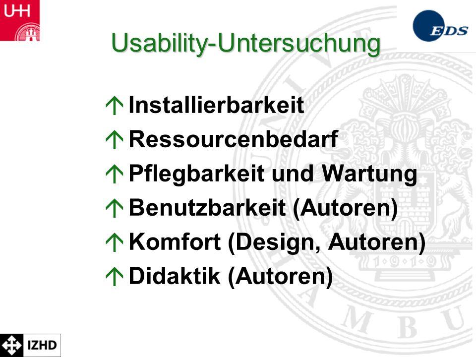 Usability-Untersuchung