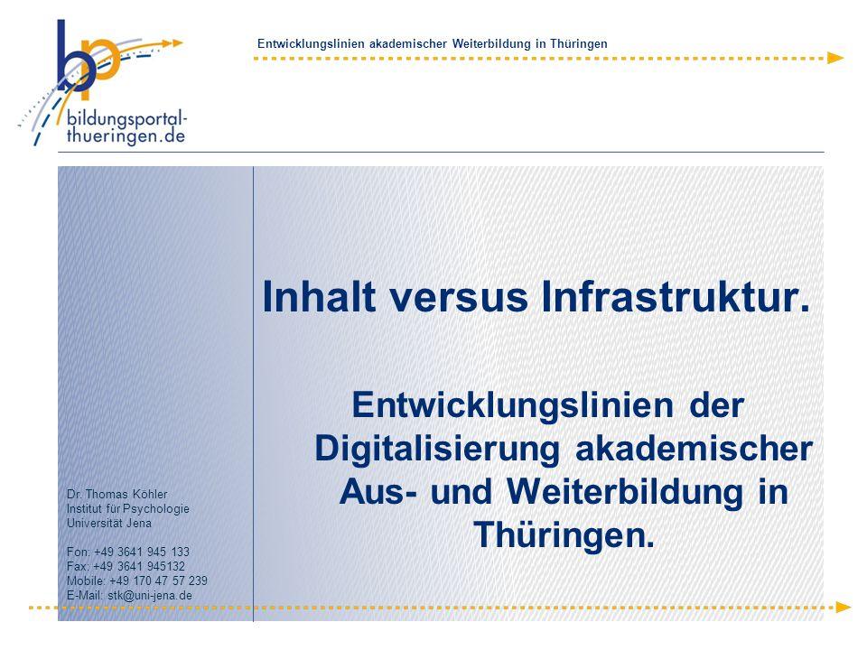 Inhalt versus Infrastruktur.