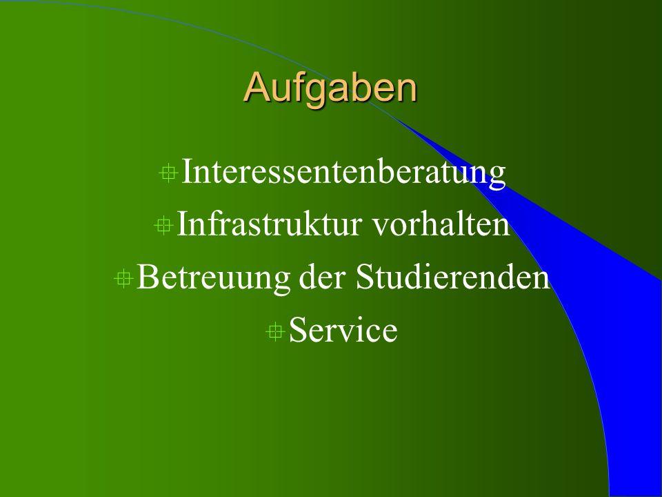 Aufgaben Interessentenberatung Infrastruktur vorhalten
