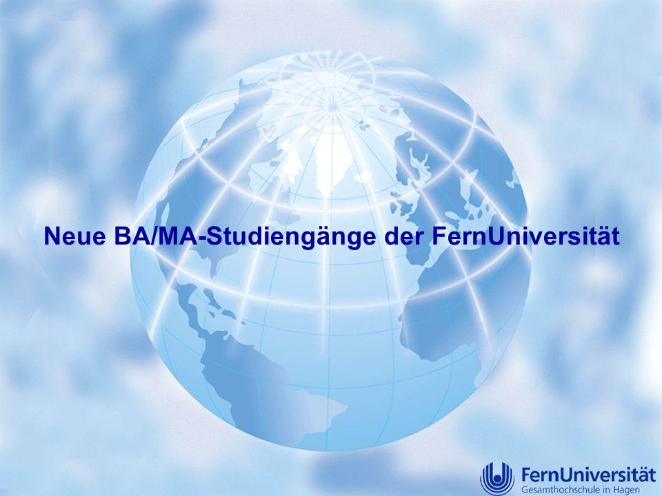 Neue BA/MA-Studiengänge der FernUniversität