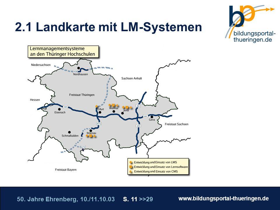 2.1 Landkarte mit LM-Systemen