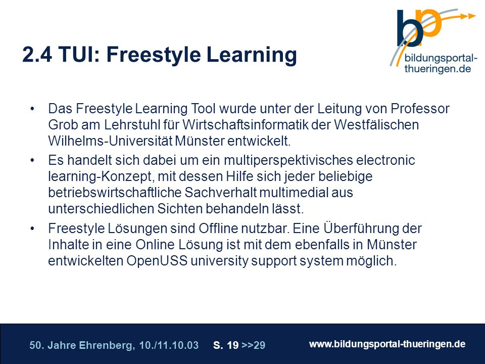 2.4 TUI: Freestyle Learning