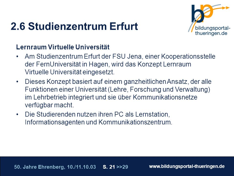 2.6 Studienzentrum Erfurt