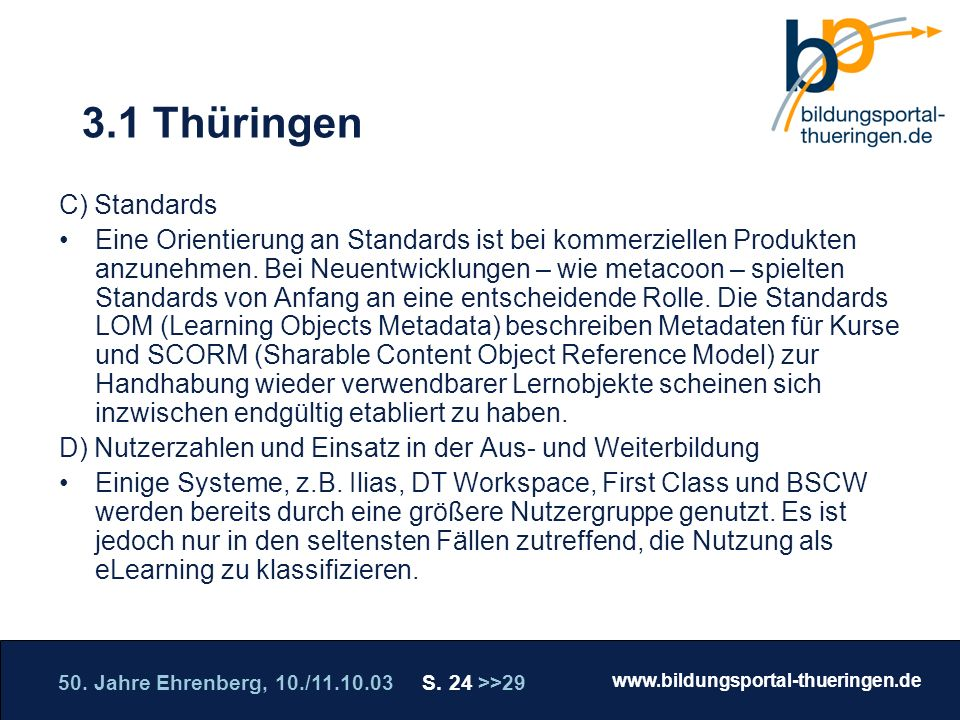 3.1 Thüringen C) Standards