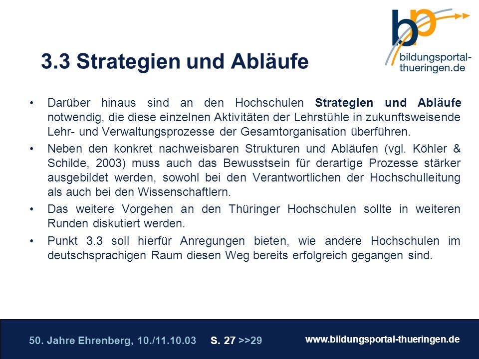 3.3 Strategien und Abläufe