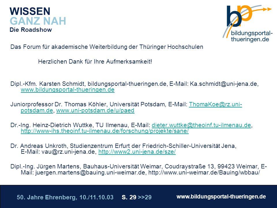 Das Forum für akademische Weiterbildung der Thüringer Hochschulen