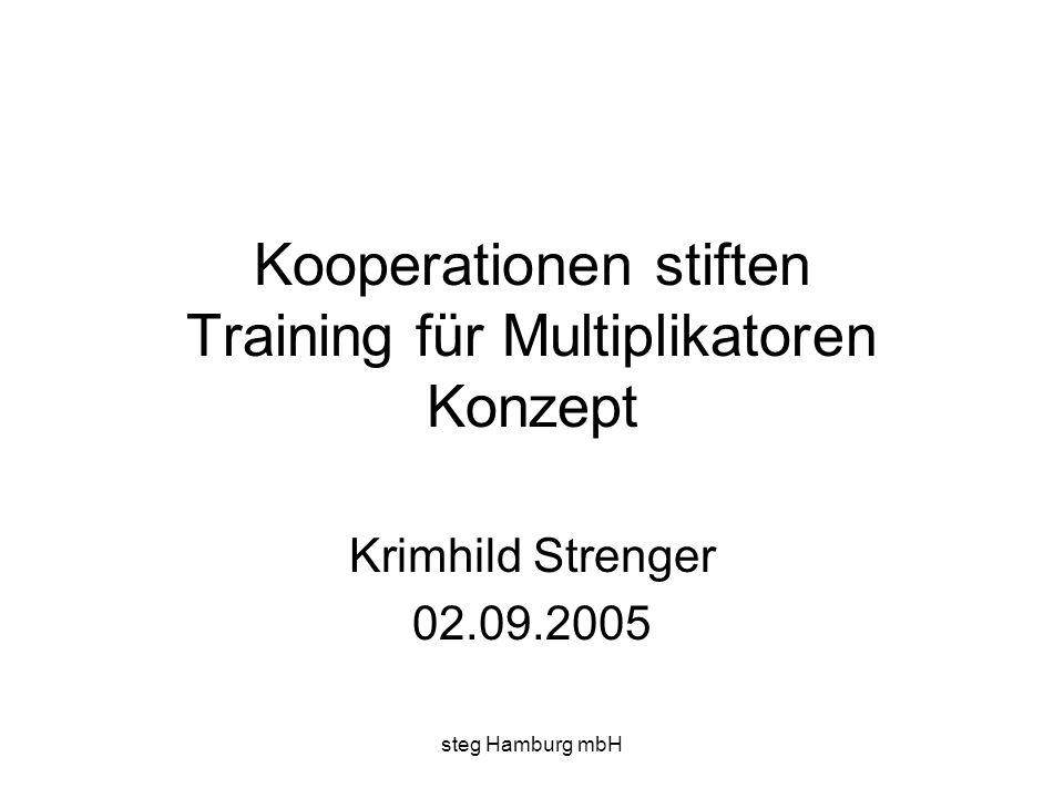 Kooperationen stiften Training für Multiplikatoren Konzept