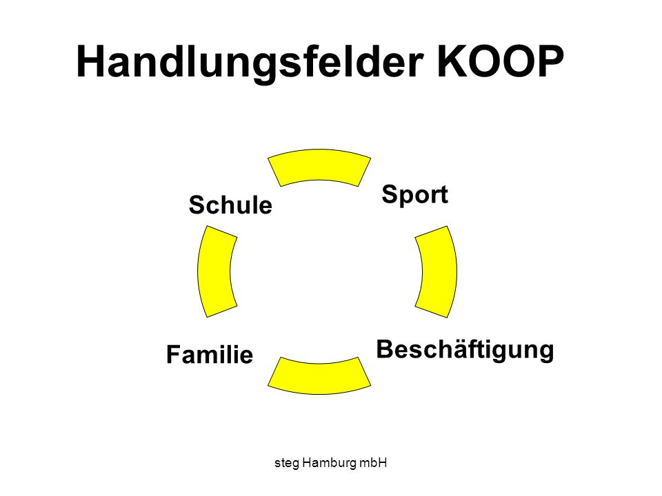 Handlungsfelder KOOP Sport Schule Beschäftigung Familie