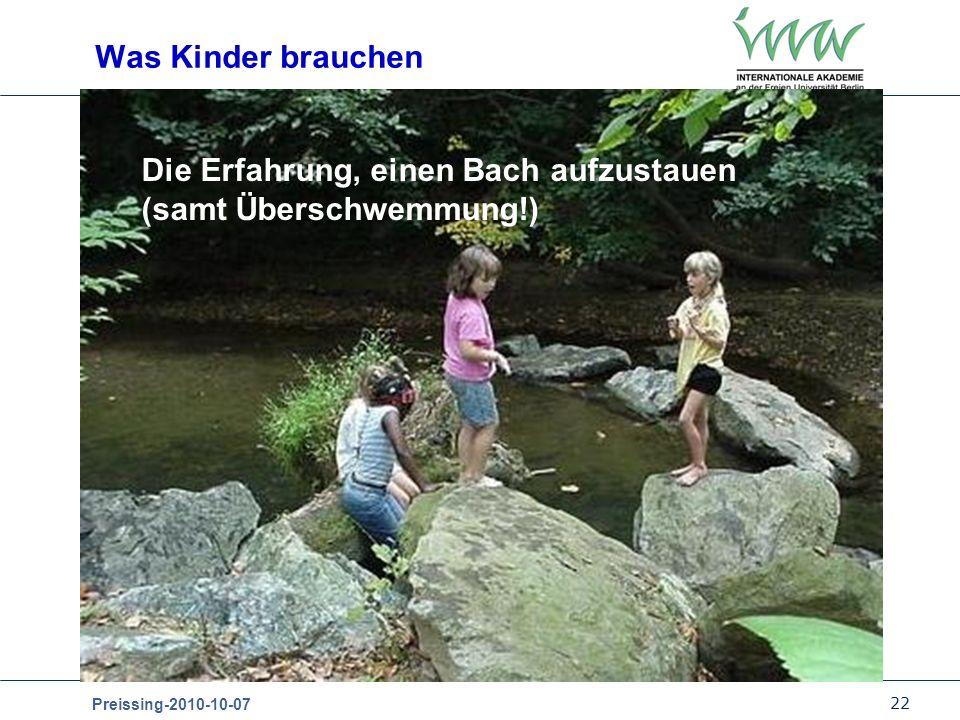 Was Kinder brauchen Die Erfahrung, einen Bach aufzustauen (samt Überschwemmung!)