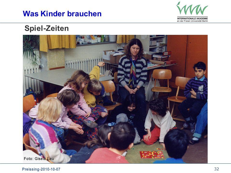 Was Kinder brauchen Spiel-Zeiten Foto: Gisela Lau