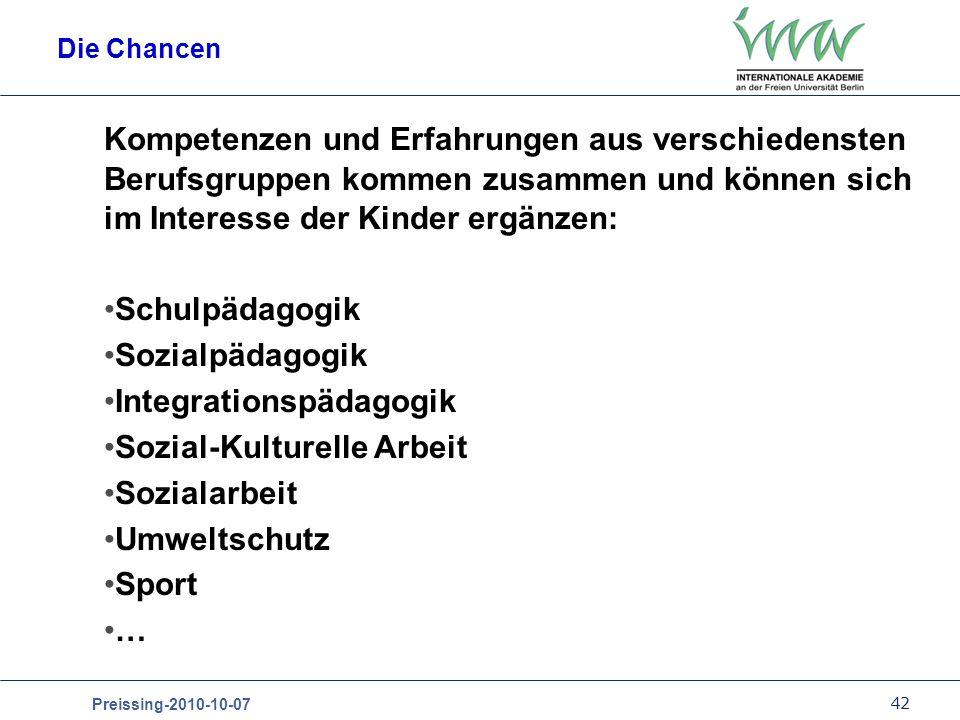 Integrationspädagogik Sozial-Kulturelle Arbeit Sozialarbeit