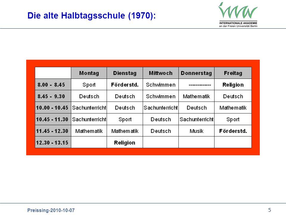 Die alte Halbtagsschule (1970):