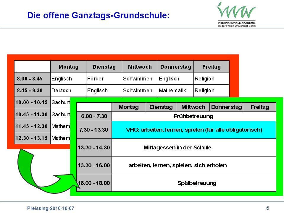 Die offene Ganztags-Grundschule: