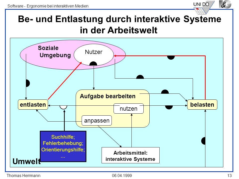 Be- und Entlastung durch interaktive Systeme in der Arbeitswelt