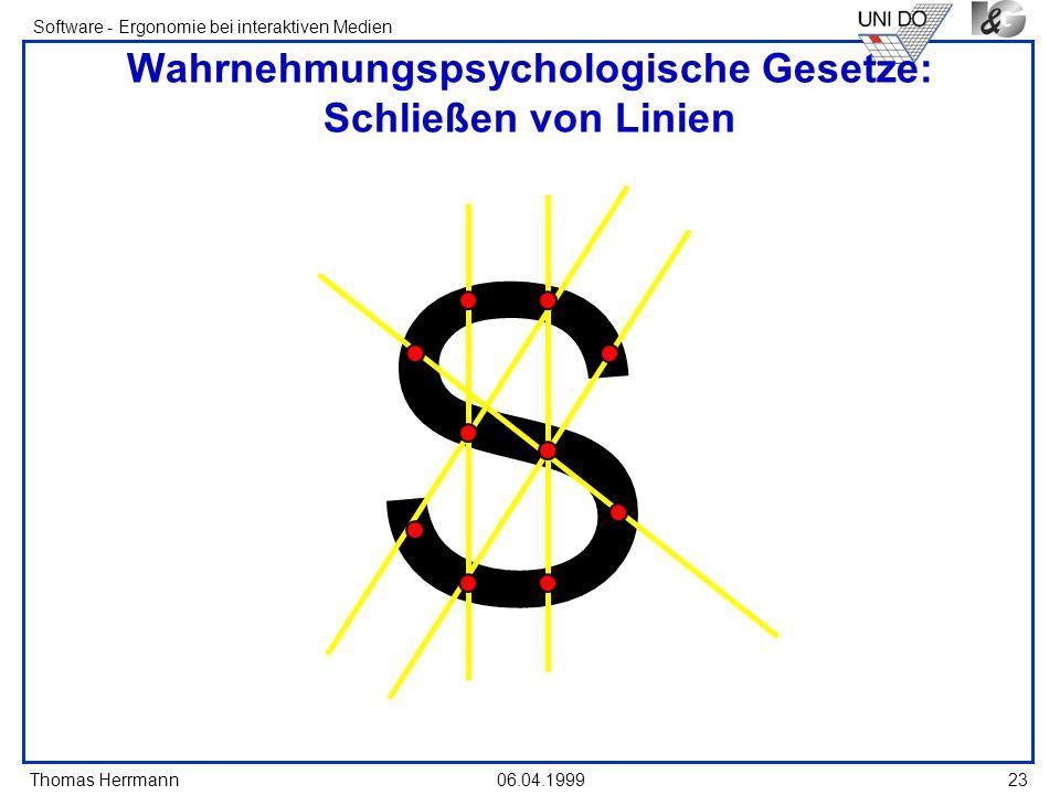 Wahrnehmungspsychologische Gesetze: Schließen von Linien